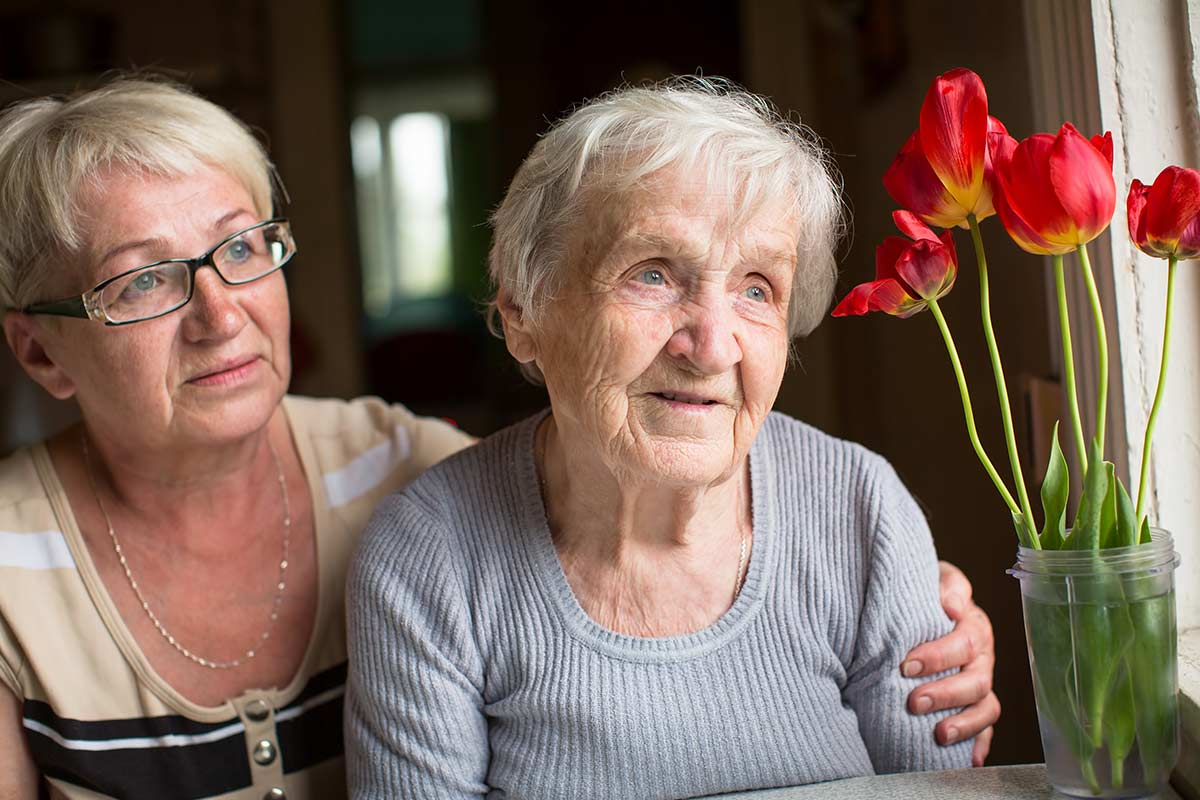 daughter and elderly mother